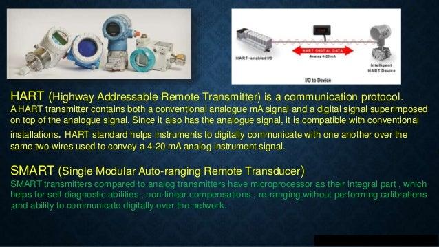 Smart transmitters & HART Protocol  Slide 3