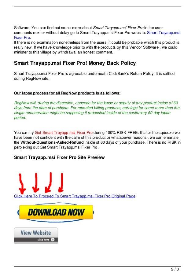 Smart trayapp.msi fixer pro Slide 2