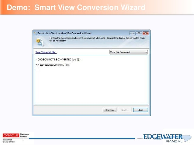 Migrating from Excel Add-In With VBA to Smart View Simplified