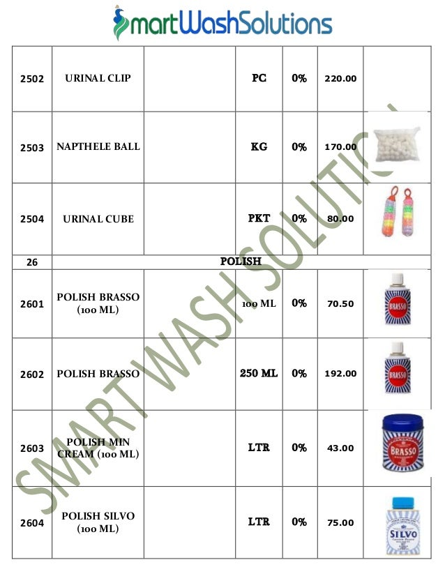 Types of Room Cleaning Chemicals / Taski Cleaning Agents (R1 to R9)