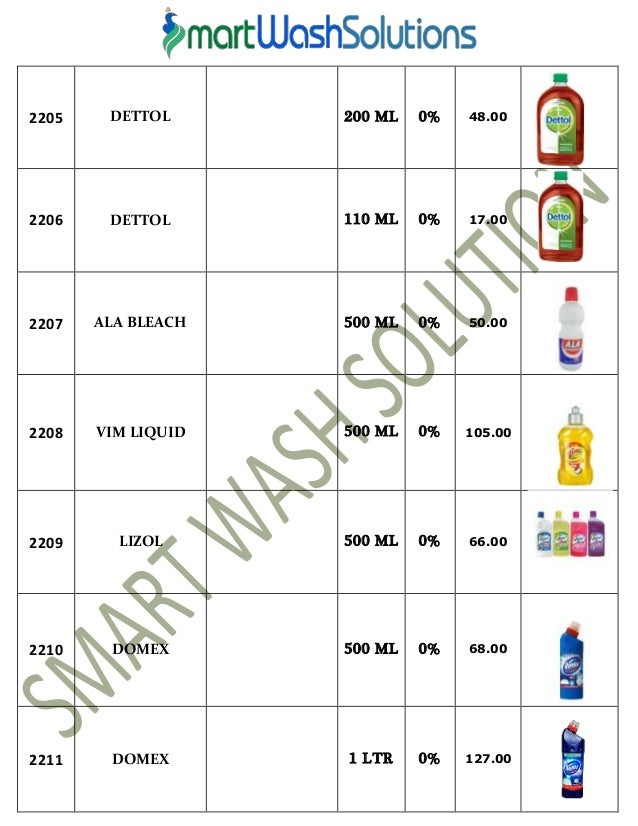 Housekeeping Products Material and Cleaning Chemicals Price List. Housekeeping Items List   hannahhouseinc com