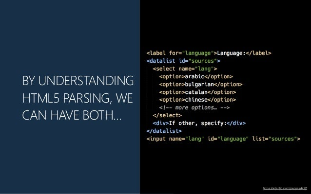 BY UNDERSTANDING HTML5 PARSING, WE CAN HAVE BOTH… https://adactio.com/journal/4272