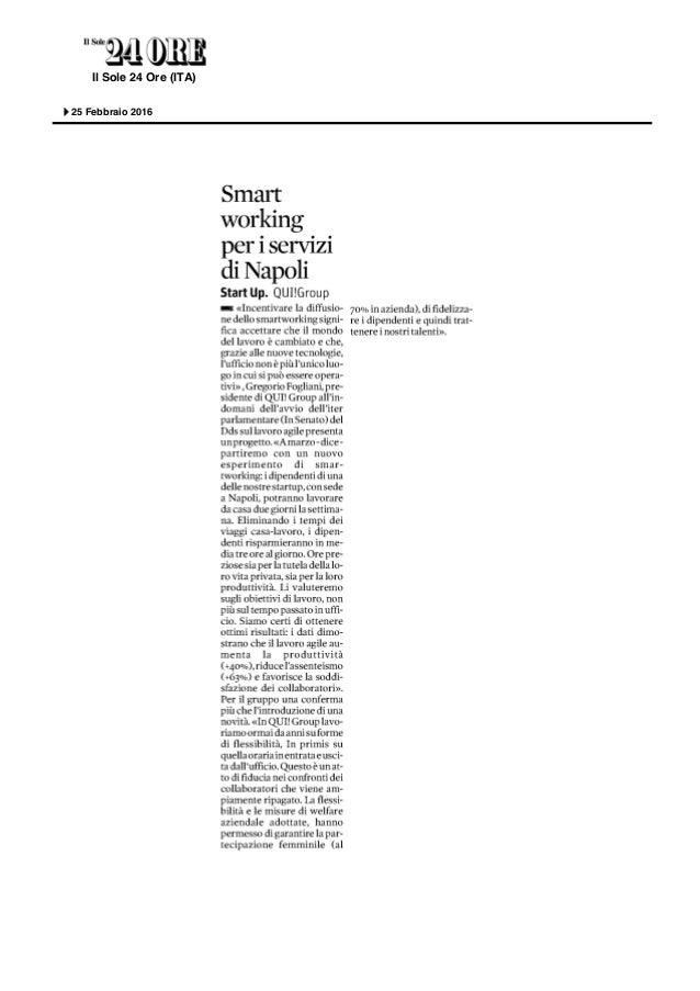 Il Sole 24 Ore (ITA) Paese: it Pagina: 14 Readership: 901000 Diffusione: 389015 Tipo media: Quotidiano Nazionale Autore: n...