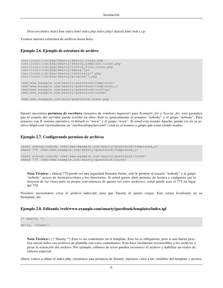 Smarty 2.6.14 Docs