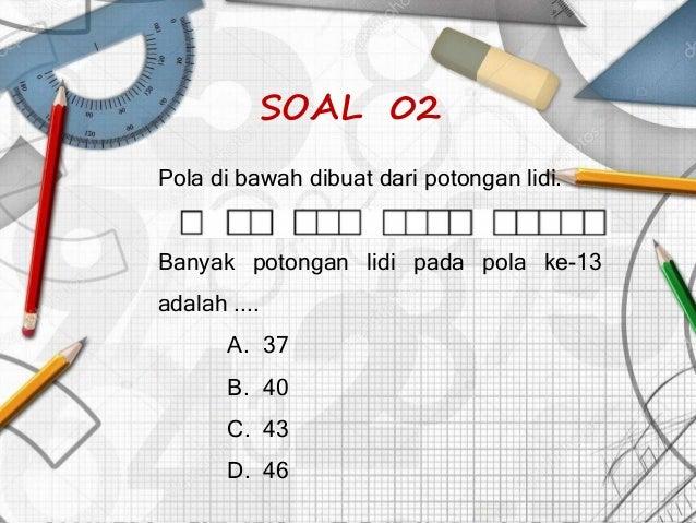Smass 04. pola, barisan, dan deret bilangan