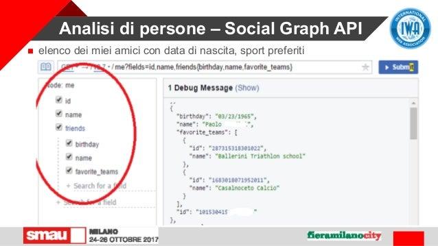 Analisi di persone – Social Graph API  elenco dei miei amici con data di nascita, sport preferiti