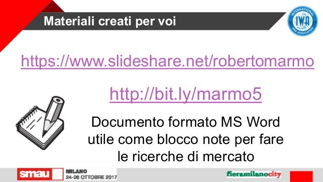 Materiali creati per voi https://www.slideshare.net/robertomarmo http://bit.ly/marmo5 Documento formato MS Word utile come...