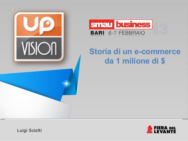 Storia di un e-commerce                    da 1 milione di $Luigi Sciolti