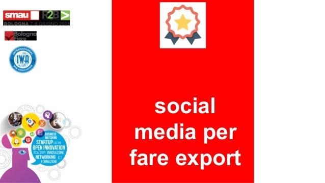 social media per fare export