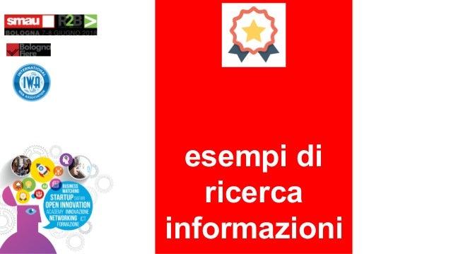 esempi di ricerca informazioni