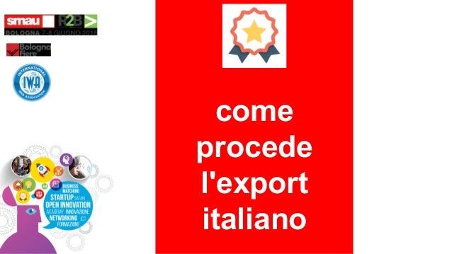 come procede l'export italiano