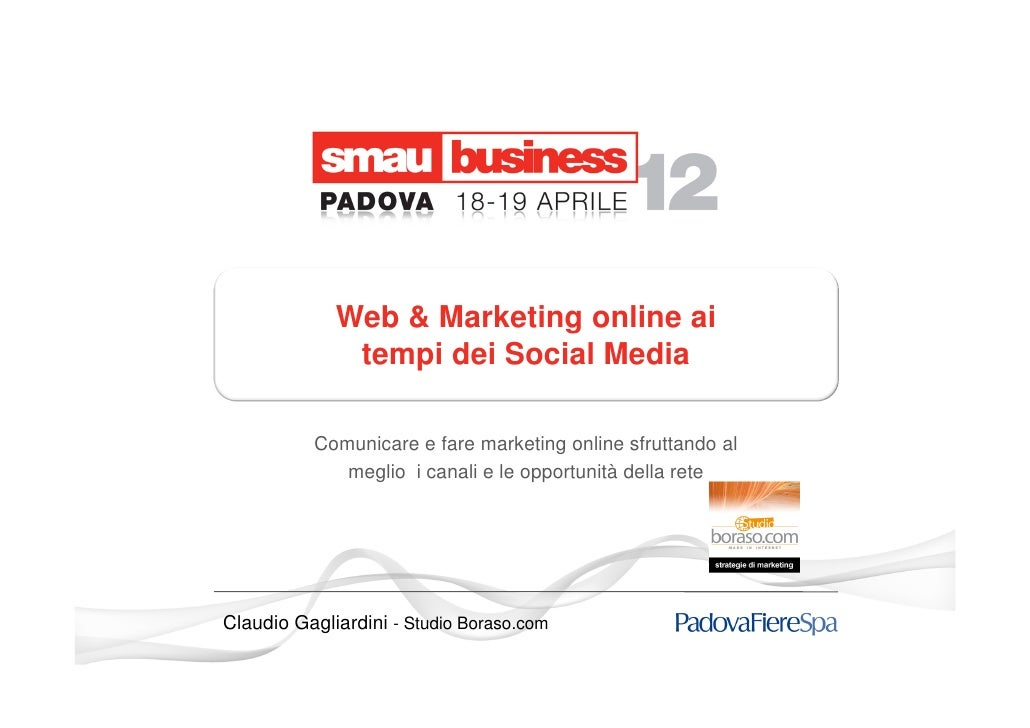 Web & Marketing online ai              tempi dei Social Media          Comunicare e fare marketing online sfruttando al   ...