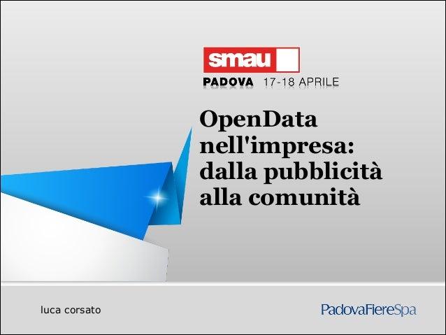 OpenData                             nellimpresa:                             dalla pubblicità                            ...