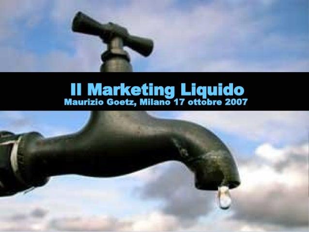 Smau2007: Il marketing liquido