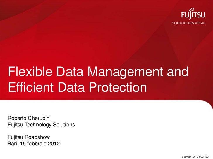 Flexible Data Management andEfficient Data ProtectionRoberto CherubiniFujitsu Technology SolutionsFujitsu RoadshowBari, 15...