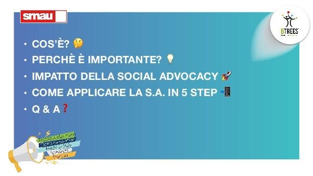 Social Advocacy: dal brand alla community Slide 2