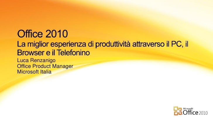 Luca Renzanigo Office Product Manager Microsoft Italia