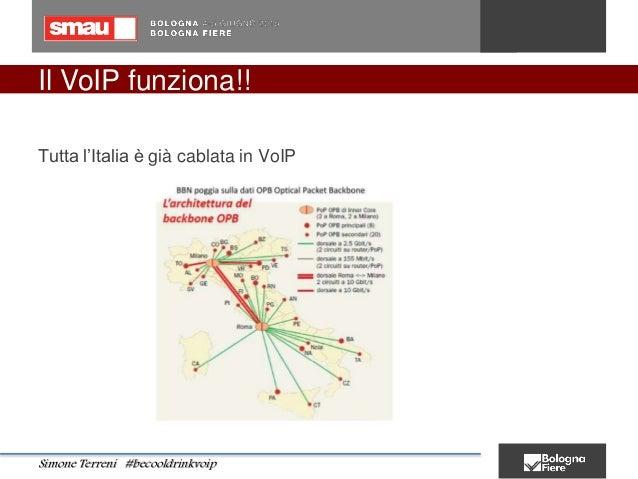 Il VoIP funziona!! Tutta l'Italia è già cablata in VoIP Simone Terreni #becooldrinkvoip