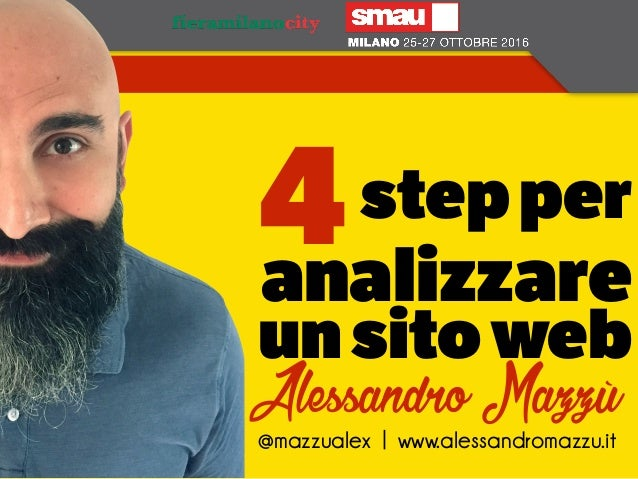 stepper analizzare unsitoweb 4 @mazzualex | www.alessandromazzu.it Alessandro Mazzù