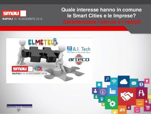 Quale interesse hanno in comune le Smart Cities e le Imprese? Caratterizzare l'utenza e i veicoli