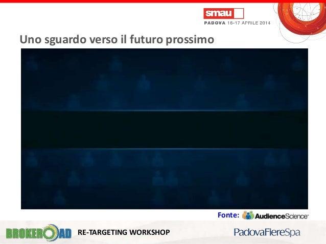 Gabriele Taviani & Fabio sutto Uno sguardo verso il futuro prossimo RE-TARGETING WORKSHOP Fonte: