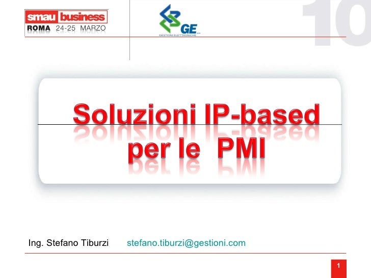 Ing. Stefano Tiburzi  [email_address]