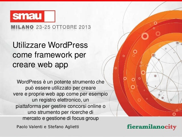 Utilizzare WordPress come framework per creare web app WordPress è un potente strumento che può essere utilizzato per crea...