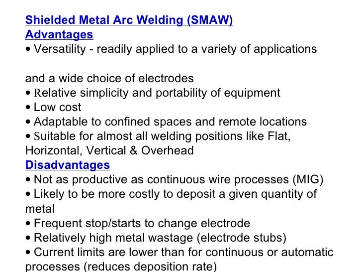manual metal arc welding process