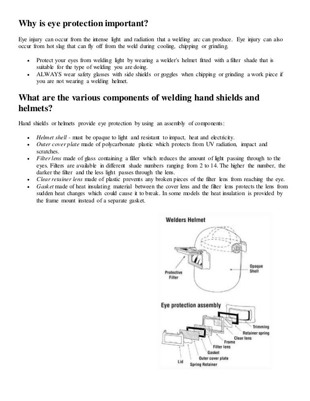 Personal Protective Equipment: Shielded Metal Arc Welding