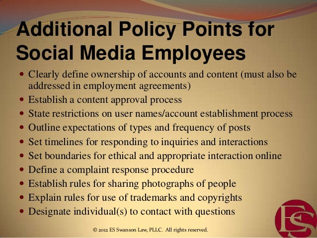 Employee Social Media Policies