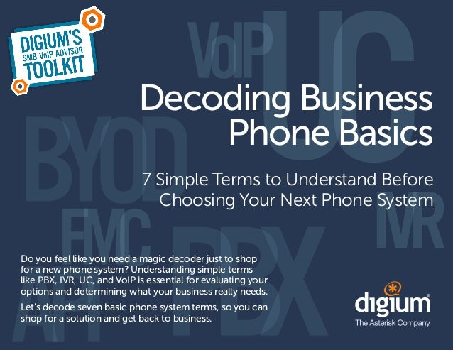 Decoding Business                                Phone Basics                             7 Simple Terms to Understand Bef...