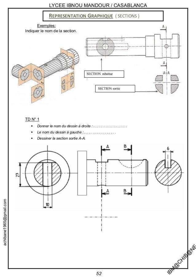 Smb20 sur 20 - Exercice dessin industriel coupe et section ...