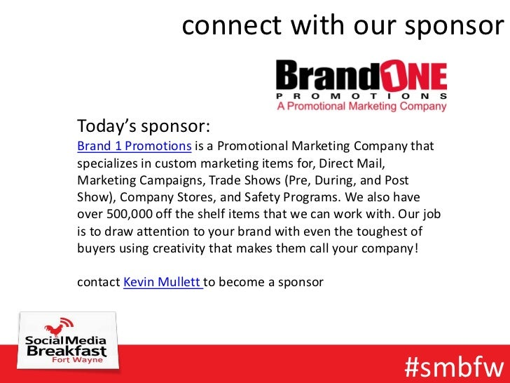 connect with our sponsorToday's sponsor:Brand 1 Promotions is a Promotional Marketing Company thatspecializes in custom ma...