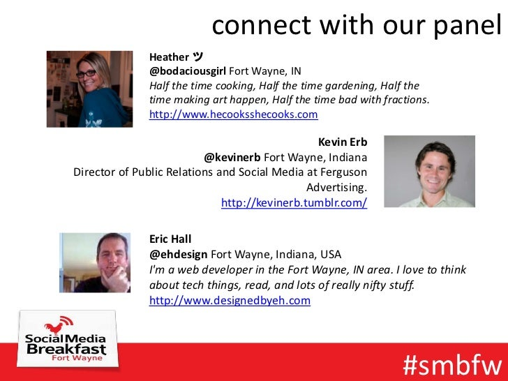 connect with our panel               Heather ツ               @bodaciousgirl Fort Wayne, IN               Half the time coo...