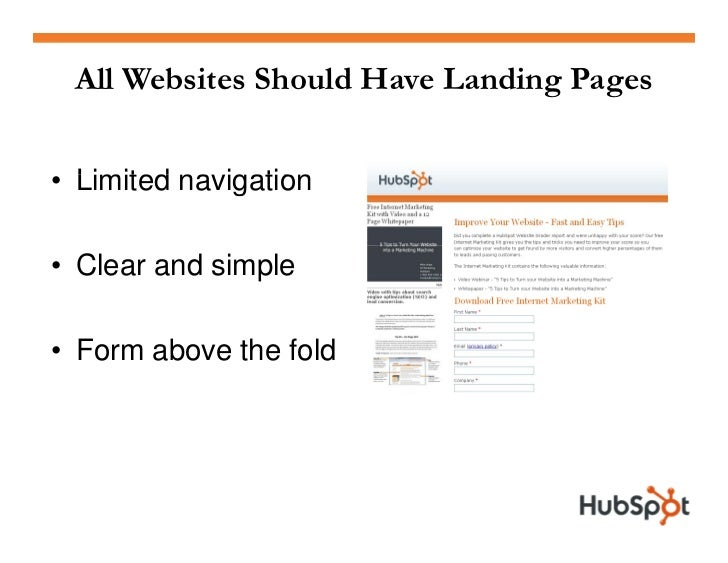 Landing Page Uses  • Call to action on website homepage                      ebsite  • Links in all email newsletters / em...