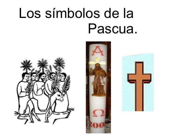 Los símbolos de la  Pascua.