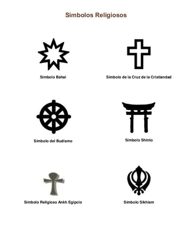 Símbolos Religiosos Símbolo Bahai Símbolo de la Cruz de la Cristiandad Símbolo del Budismo Símbolo Shinto Símbolo Religios...