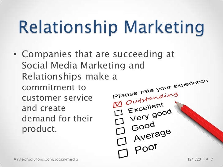 notes on relationship marketing
