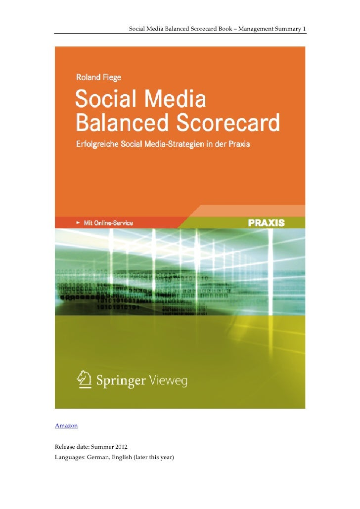 Social  Media  Balanced  Scorecard  Book  –  Management  Summary  1                                                       ...