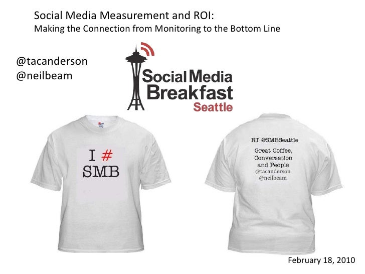 Social Media Measurement and ROI: <br />Making the Connection from Monitoring to the Bottom Line<br />@tacanderson<br />@n...