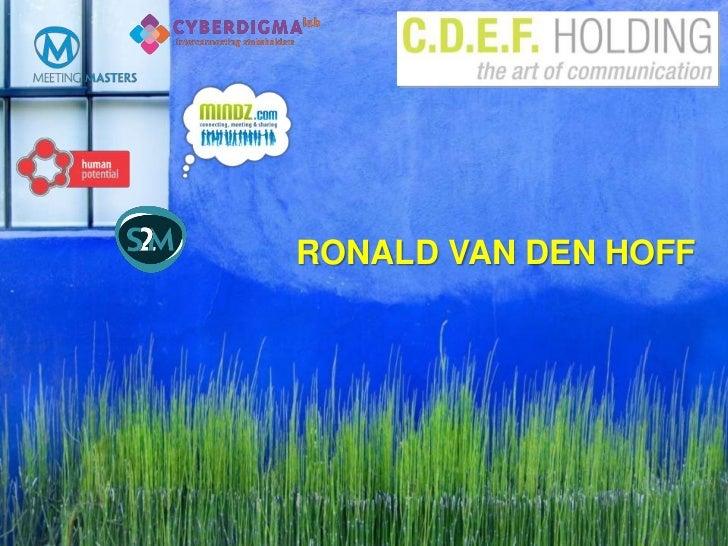 RONALD VAN DEN HOFF<br />