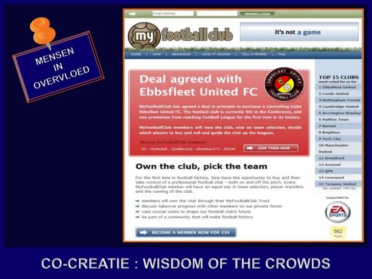 MENSEN<br />IN<br />OVERVLOED<br />CO-CREATIE : WISDOM OF THE CROWDS<br />