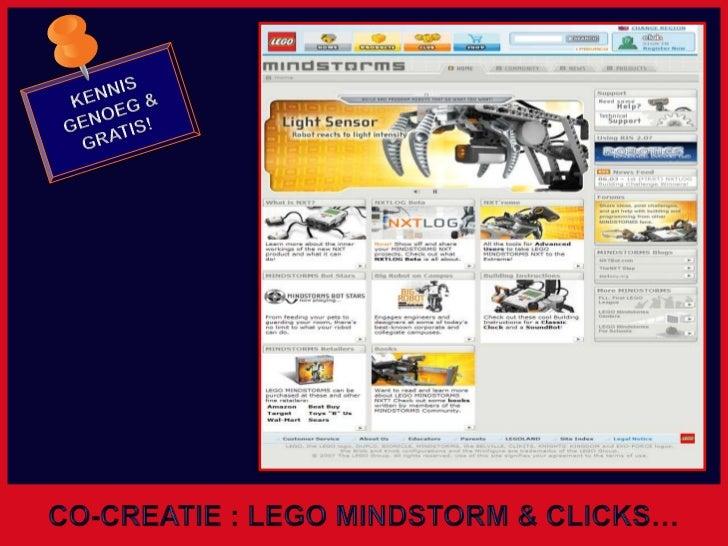 KENNIS GENOEG &<br />GRATIS!<br />CO-CREATIE : LEGO MINDSTORM & CLICKS…<br />