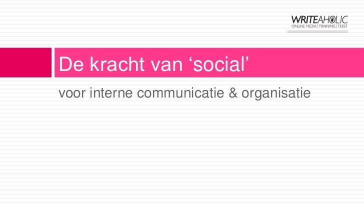 Social media interne communicatie #SMC040