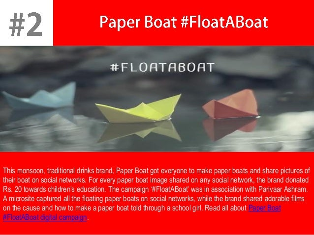 Image result for Paper Boat Digital Marketing Campaign