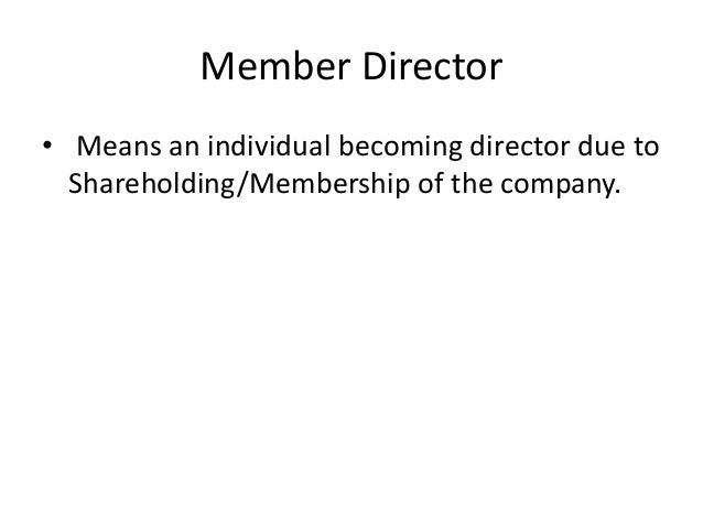 becoming director of a company