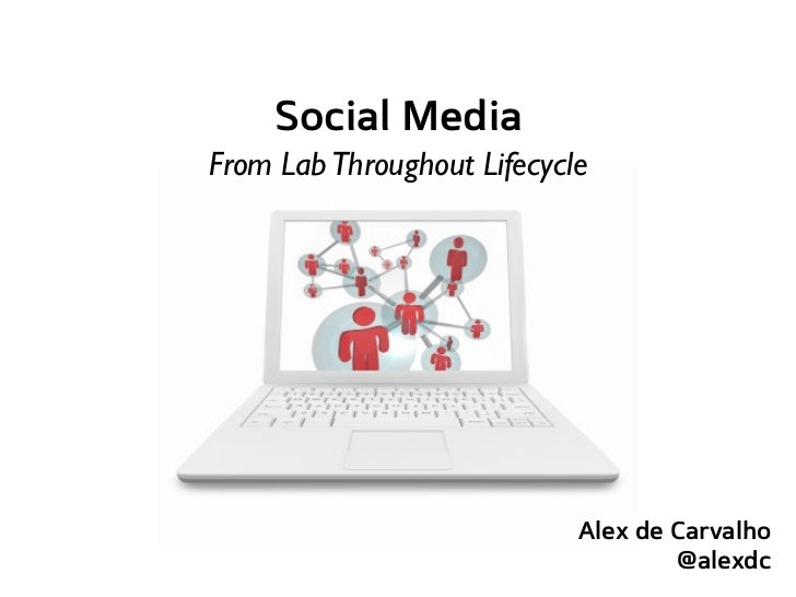 Social MediaFrom Lab Throughout Lifecycle                            Alex de Carvalho                                    @...