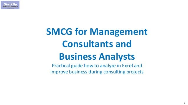 1 SMCG for Management Consultants and Business Analysts Practical guide how to analyze in Excel and improve business durin...