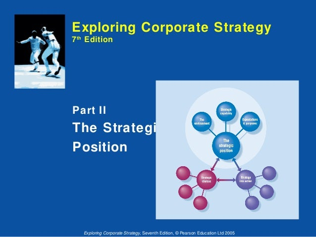Exploring Corporate Strategy 7 th Edition  Part II  The Strategic Position  Exploring Corporate Strategy, Seventh Edition,...