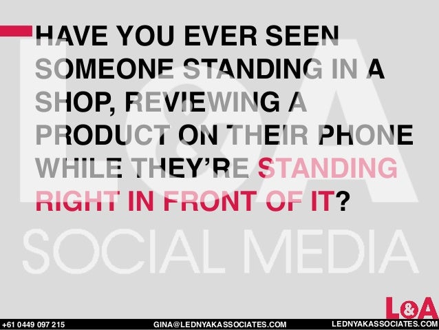 HAVE YOU EVER SEEN        SOMEONE STANDING IN A        SHOP, REVIEWING A        PRODUCT ON THEIR PHONE        WHILE THEY'R...